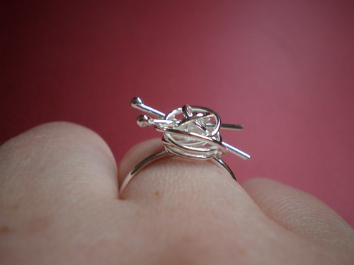 Silver Knitting Ring 3