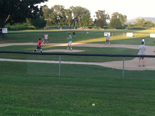 Dads v Kids Baseball