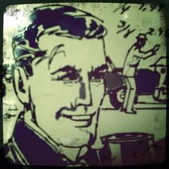 HipstaPrint Mid-Century Smiling Man