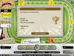 free Champion of the Track slot payout