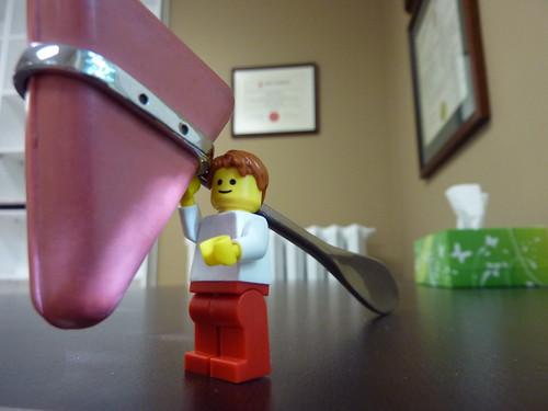 Lego man and reflex hammer by Dr. Mark Kubert