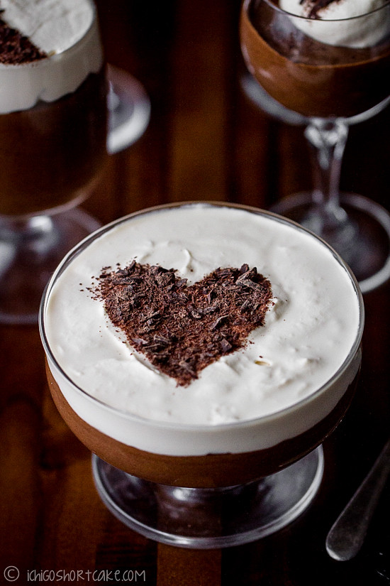 frangelico chocolate mousse with baileys cream ichigo
