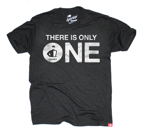 THERE IS ONLY ONE JOCKEY T-SHIRT
