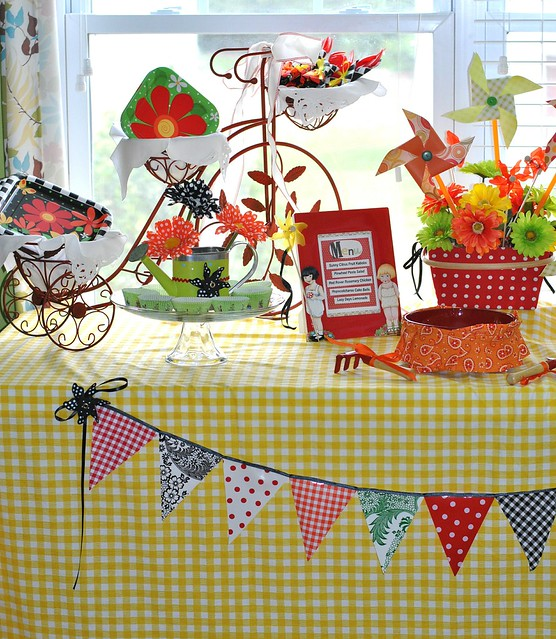 Oilcloth Bunting and Tablescape