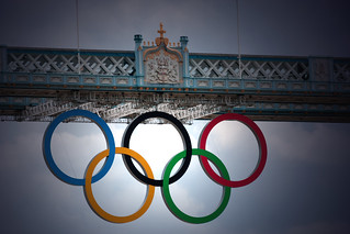 Olympic Rings, Tower Bridge, London