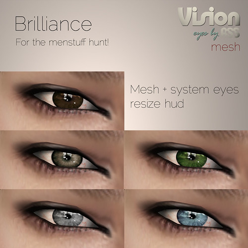 Menstuff hunt gift (from August 3:rd) - Brilliance Mesh eyes by Photos Nikolaidis