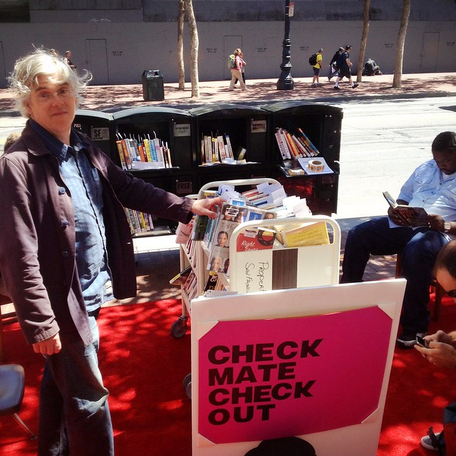 Pop up library on Market St.