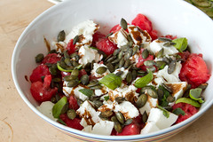 Feta and watermelon salad / Feta-arbuusisalat rös…