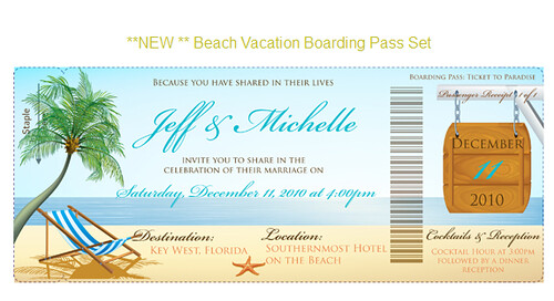 TheStylishScribe.com Boarding Pass Invitation BoardingPassInvitations