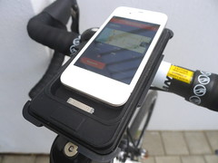 Wahoo Bike Case for iPhone showing ANT+ transceiver