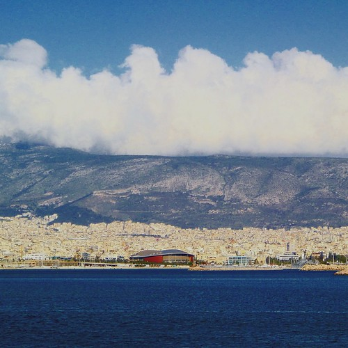 View from Piraeus, Athens
