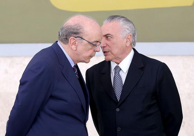 José Serra (a la izquierda), ministro de las Relaciones Exteriores de Michel Temer (a la derecha) - Créditos: Foto: Wilson Dias/Abr
