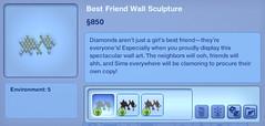 Best Friend Wall Sculpture