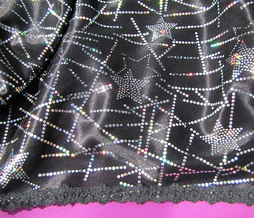 black and silver star pettipants leg