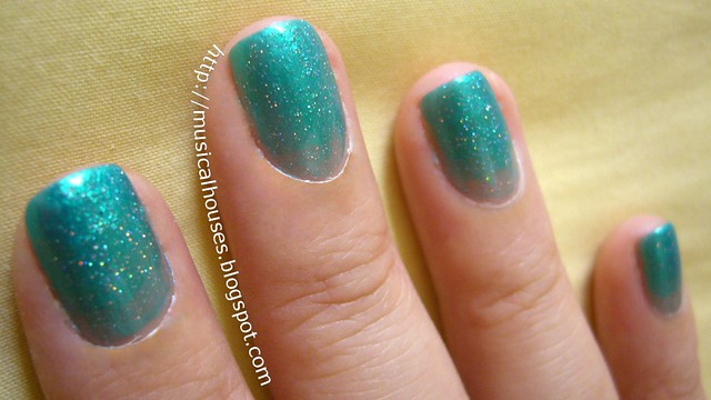 china glaze beauty and the beach fairydust syrup manicure 2