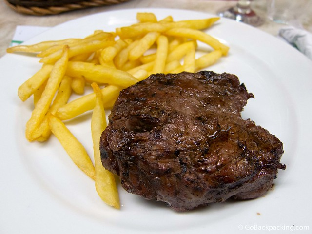 A perfectly cooed Filet Mignon at Mercado del Puerto in Montevideo