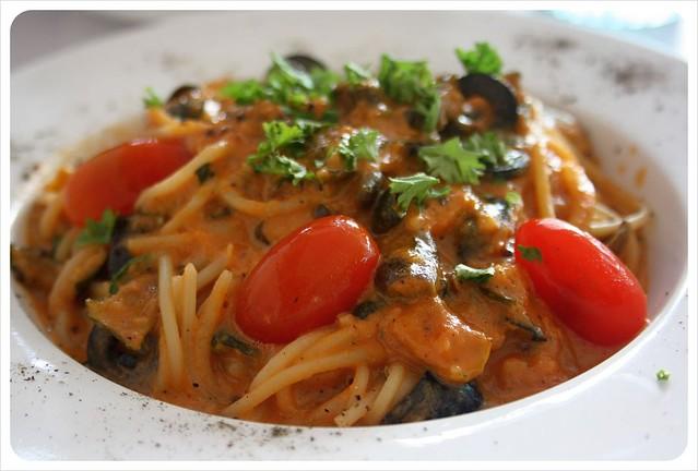 organic pasta dish on langkawi