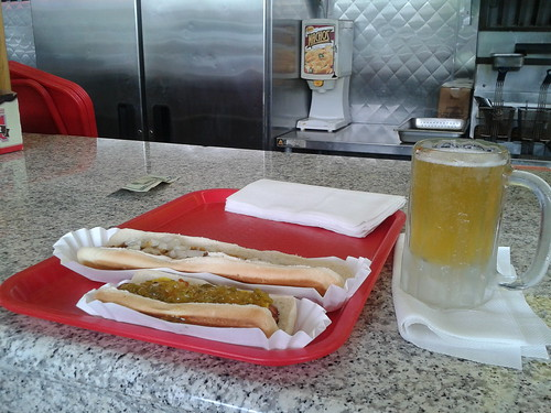 chili dogs at Sam's Corner