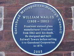 Photo of William Wailes blue plaque