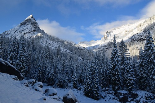 Little Matterhorn Peak in first snow