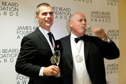 Hugh Acheson of Five and Ten and Linton Hopkins of Restaurant Eugene, James Beard Award Winners 2012, Best Chef: Southeast