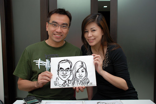 caricature live sketching for a birthday party - 1