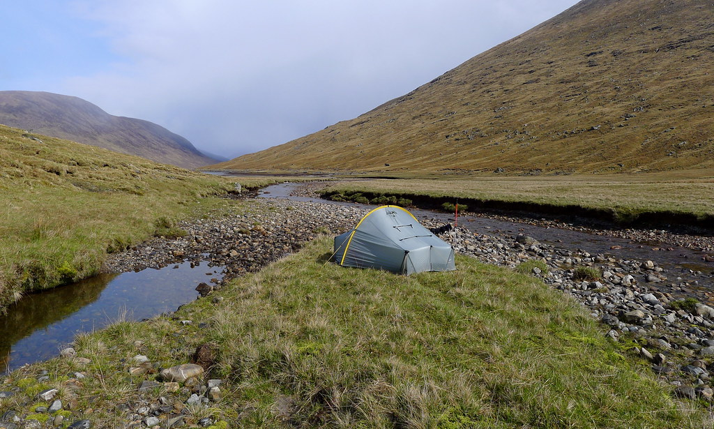 Wild camping near Loch Monar