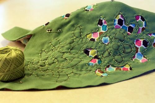 reverse applique stitched