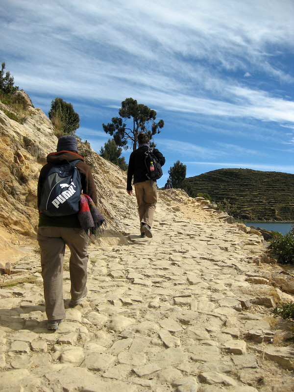 Walking Isla Del Sol - Lake Titicaca - Bolivia