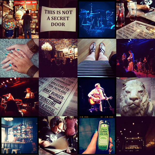 instagram collage - concerts