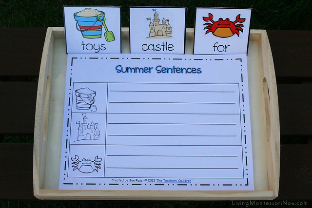 Summer Sentences Sort