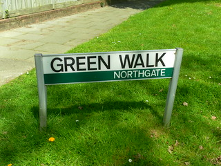 Classic Crawley Street Sign – Green Walk, Northgate