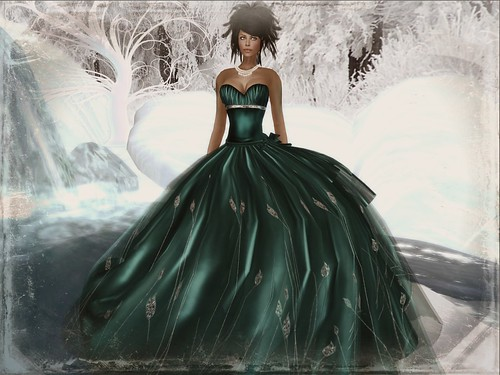 :: PM :: Nine Gown in Teal by PurpleMoon (Free ~ The Free Dove) by Cherokeeh Asteria