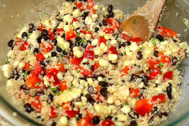 ... summer side dish, look no further! This Sprouted Quinoa Salad is tasty