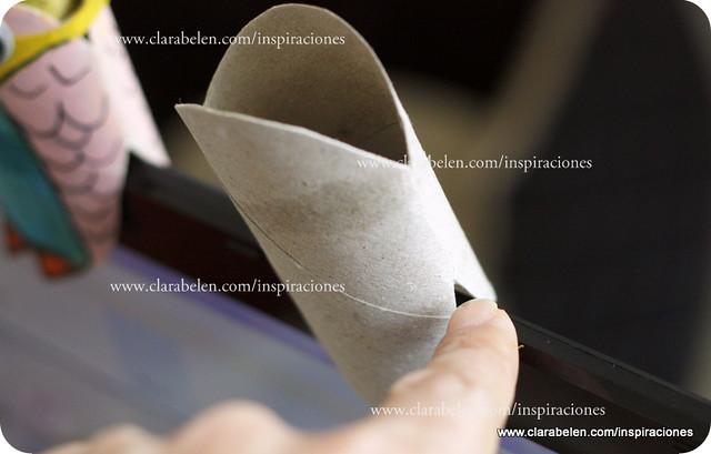 Manualidades de niños: Búhos con rollos de cartón