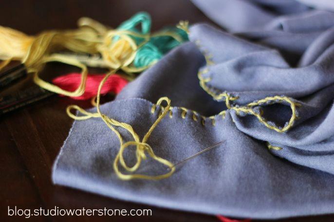 studio waterstone diy ombre scarf