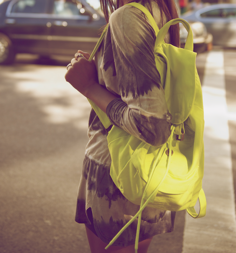 neon back pack