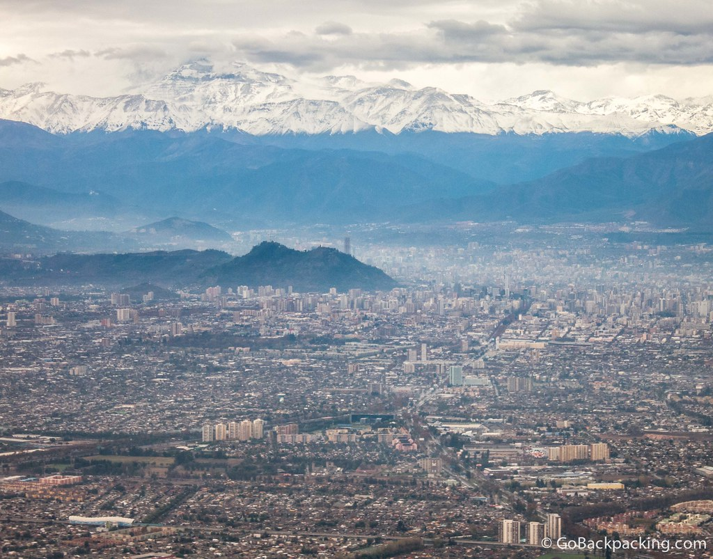 View of Santiago during take off