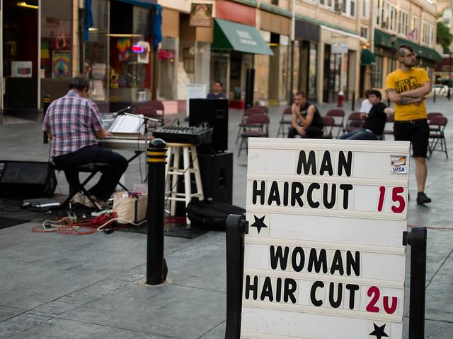 Man Haircut 15. Woman Haircut 20