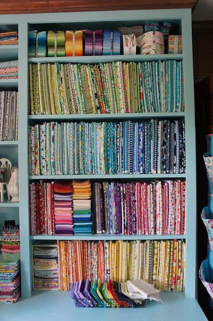 Sewing Room - Fabric Shelves