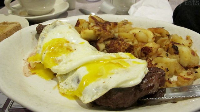 Ribeye steak and eggs