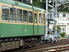 江ノ電305Fと1502号車の台車@極楽寺検車区