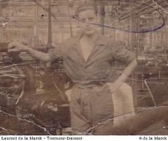 Laurent de la Marck à 16 ans, aux Ateliers Gamin
