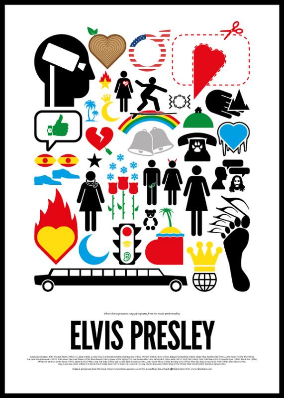 Dia Mundial do Rock e o Pictograma do Rock Elvis Presley
