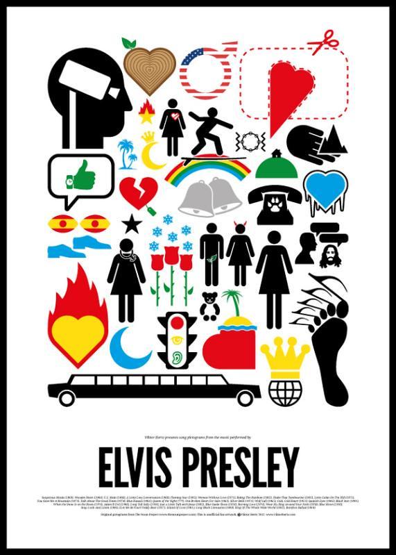 Dia Mundial do Rock e o Pictograma do Rock Elvis Presley