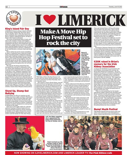 I Love Limerick Chronicle Column 19 June 2012 Page 1