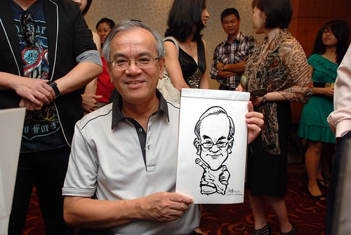 Caricature live sketching for The Bank of East Asia Staff Annual D&D - 10