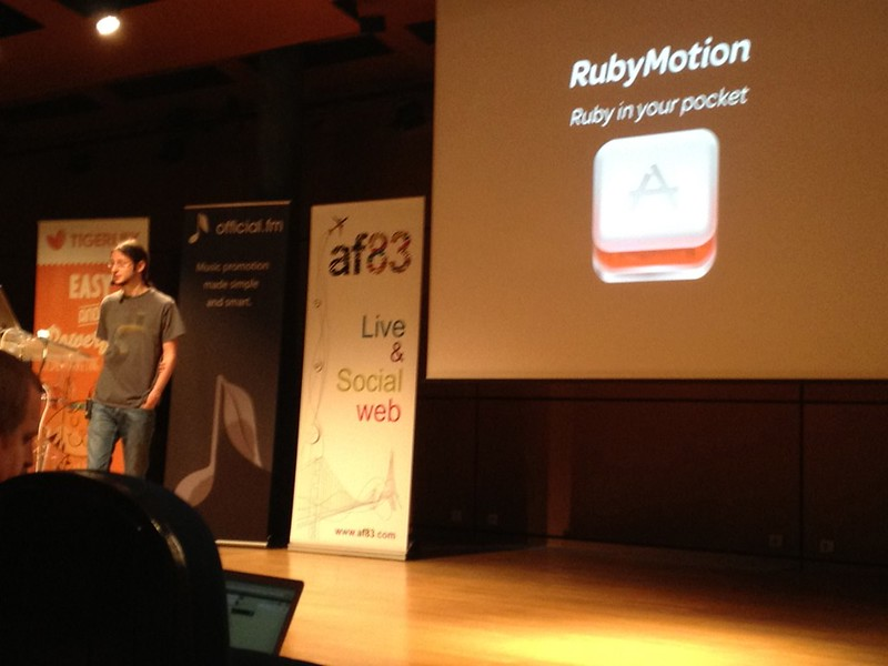 Laurent Sansonetti is talking about RubyMotion