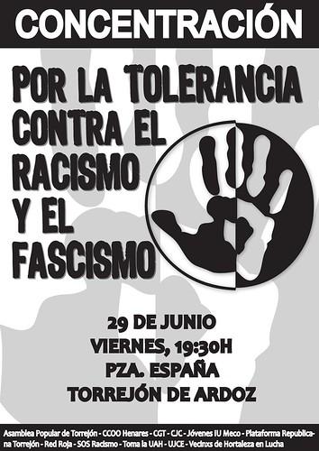 Concentración por la tolerancia, contra el racismo y el fascismo