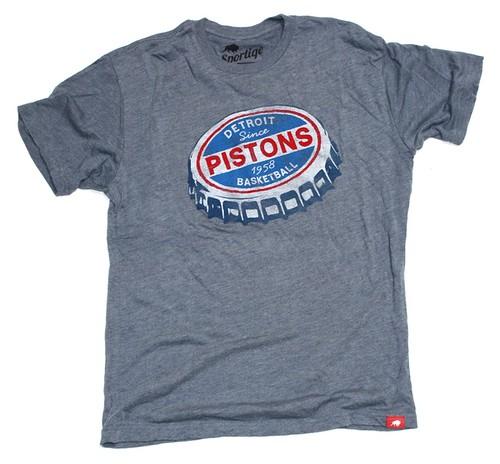 Detroit Pistons Tee By Sportiqe
